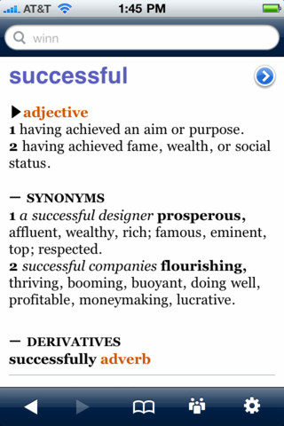 Successfully synonym