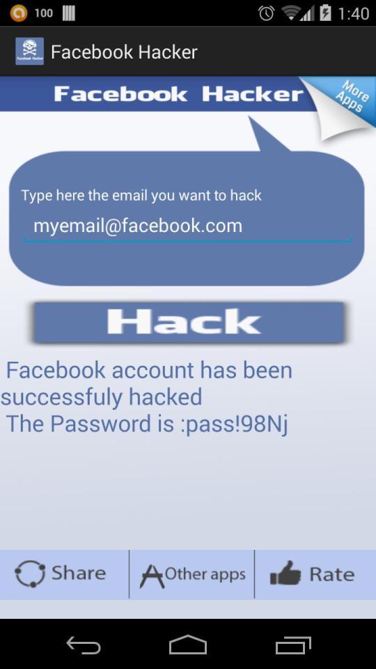 logiciel hack facebook pour Androïde