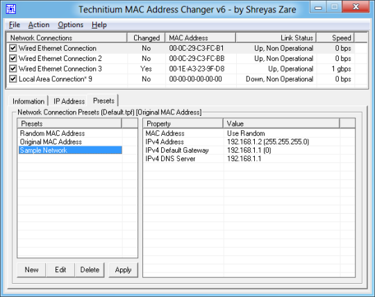 Technitium Mac Address Changer Free Download