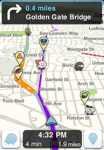 waze social gps maps traffic t l charger et installer ios. Black Bedroom Furniture Sets. Home Design Ideas