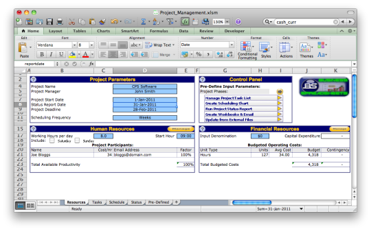 Excel Project Management Template Download And Install | Mac