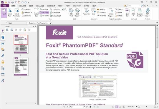 Foxit phantompdf standard download e installazione windows for Programma rendering free