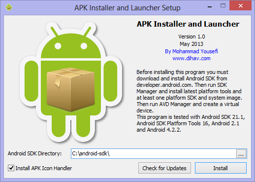 android apk installer for pc