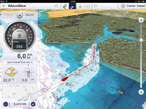 maxsea le logiciel de navigation maritime gratuit