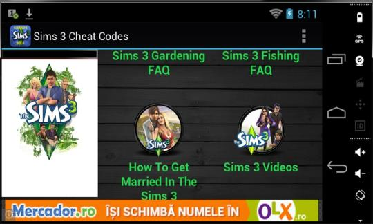 sims 3 cheats download and install android