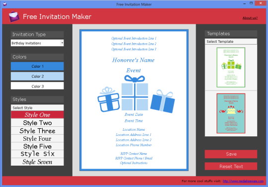Free invitation maker download and install windows Free graphic design software for windows