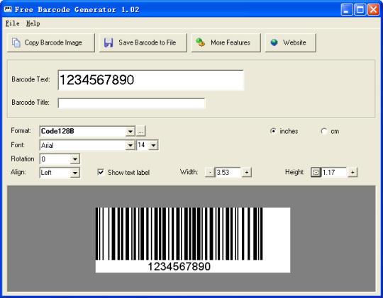 Barcode generator software.
