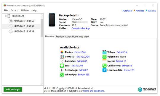 iPhone Backup Extractor Descargar e Instalar | Windows