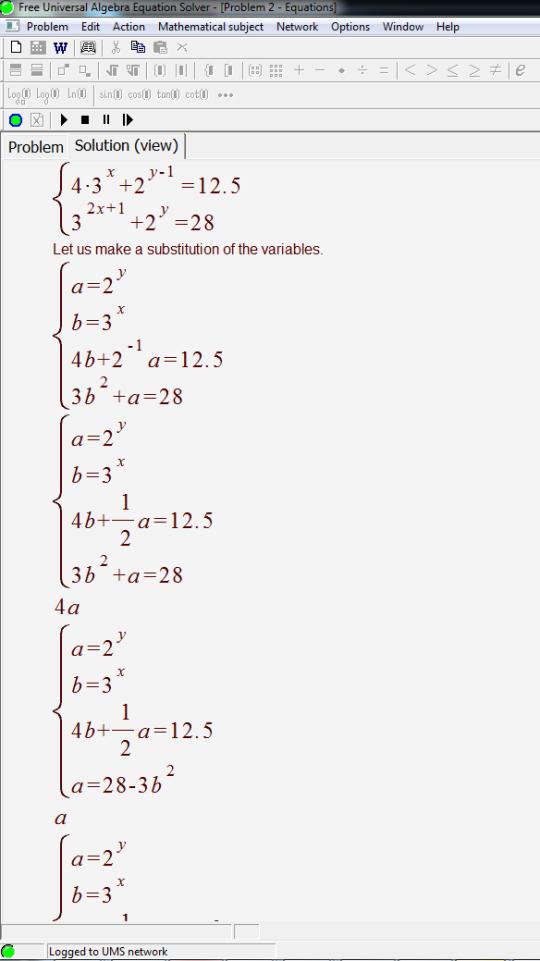 Algebra solver free