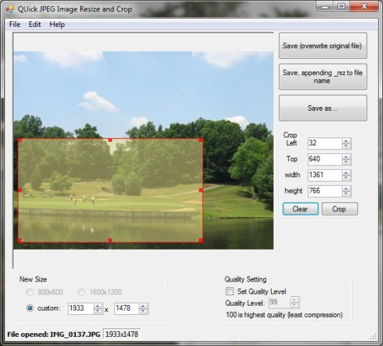 Quick jpeg resize and crop download and install windows for Free image editor