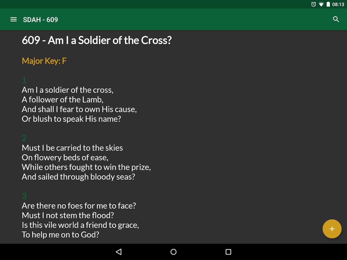 seventh day adventist hymnal lyrics free download