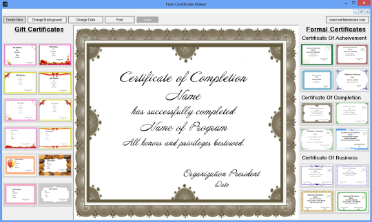 free certificate maker download and install windows