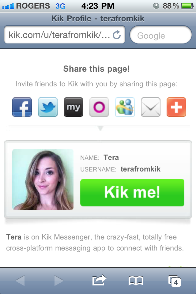 Kik profiles for sexting