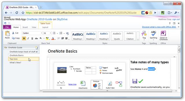 Microsoft office onenote 2010