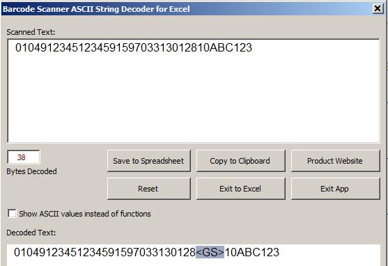 Barcode Scanner ASCII String Decoder Download and Install   Windows